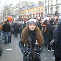 Manifestante contre la politique de Nicolas Sarkozy