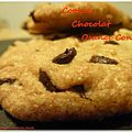 Cookie chocolat orange confite