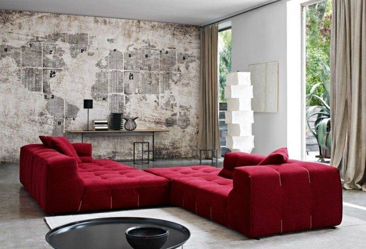 Canapés style moderne pour salon marocain - Decoration salon ...