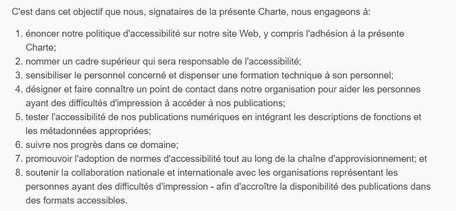 Signature par Hachette Livre de la Charte de l'édition en format accessible