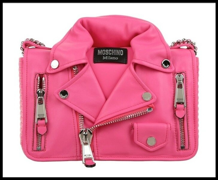 moschino sac biker rose