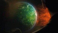 la tempête solaire et la Terre