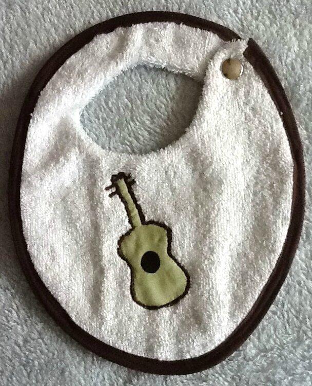 Bavoir guitare