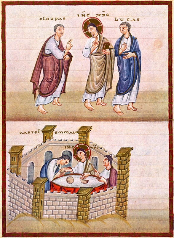 disciples d'Emmaüs, codex Egbert