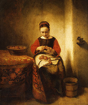 Young_girl_peeling_apples_Maes_