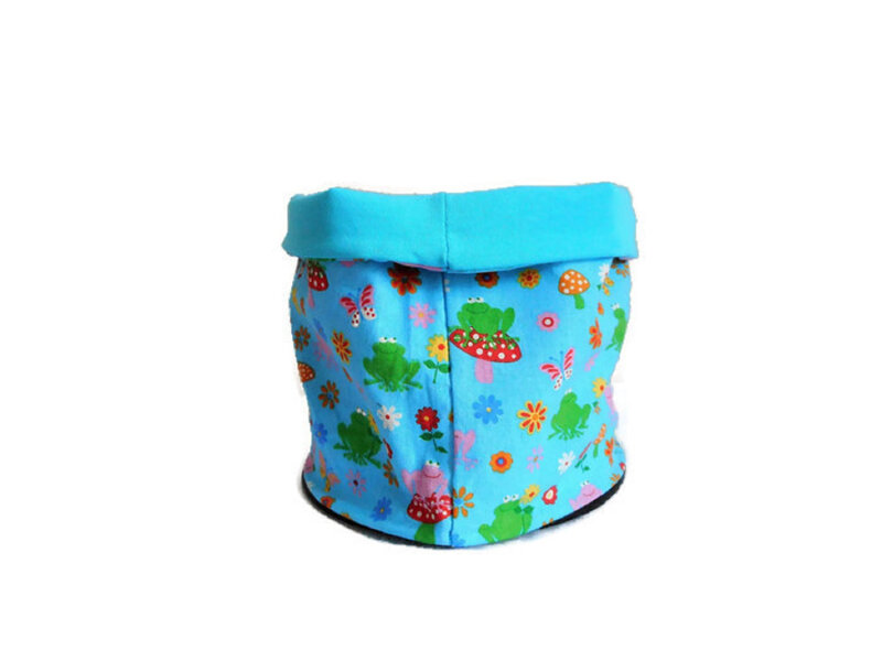 Snood grenouilles turquoise dos