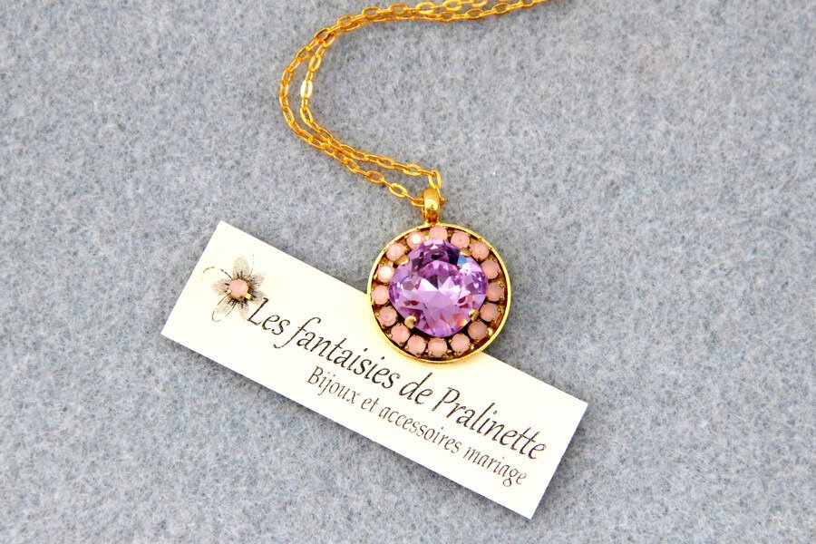 bijoux-mariage-soiree-temoin-pendentif-berenice-cristal-violet-strass-rose-opal-doré