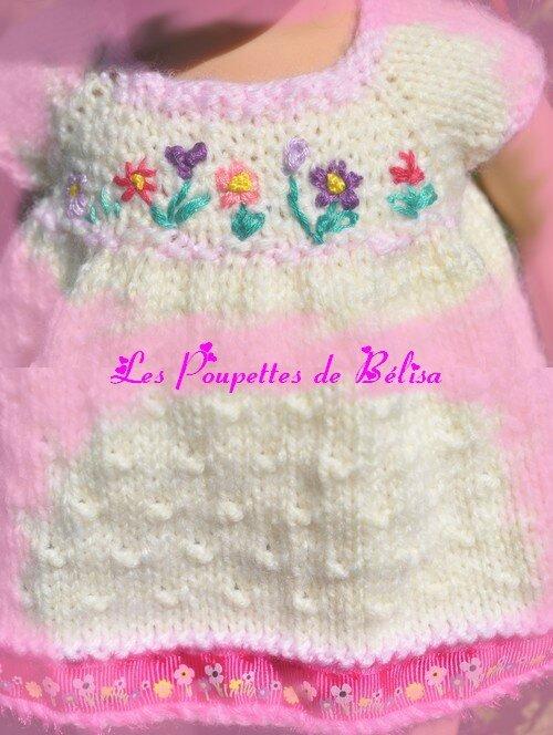 TUTO 167 - Une petite robe tricot pour Annie...