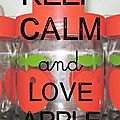 carte Keep calm and love apple