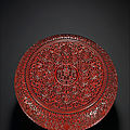 A rare large carved cinnabar-lacquer box and cover, qing dynasty, 18th century
