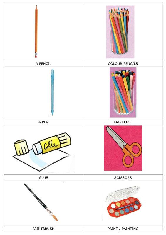 2018 LEXIQUE 1 school supplies