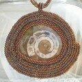 Ammonite sertie