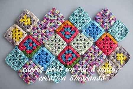 Rideaux et sac au crochet madame fait du crochet - Faire ses rideaux au crochet ...