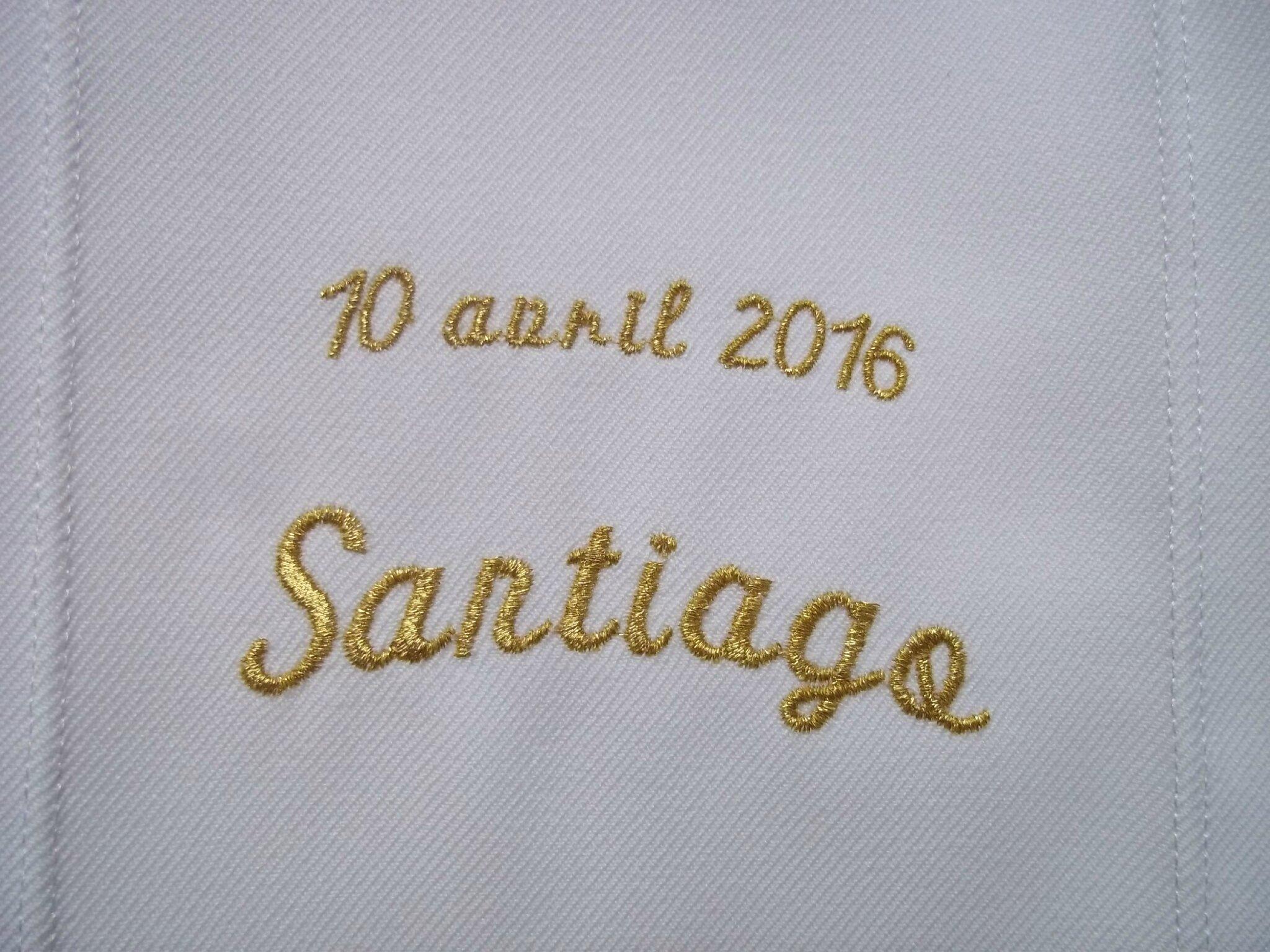 100416 ETOLES DE BAPTEME PERSONNALISEES SANTIAGO RAPHAEL SOLEANE par amd a coudre (4)
