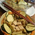 Tofu et ses légumes croquant