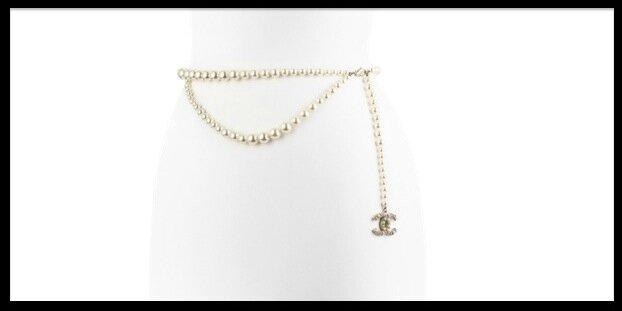chanel perles de verre ceinture