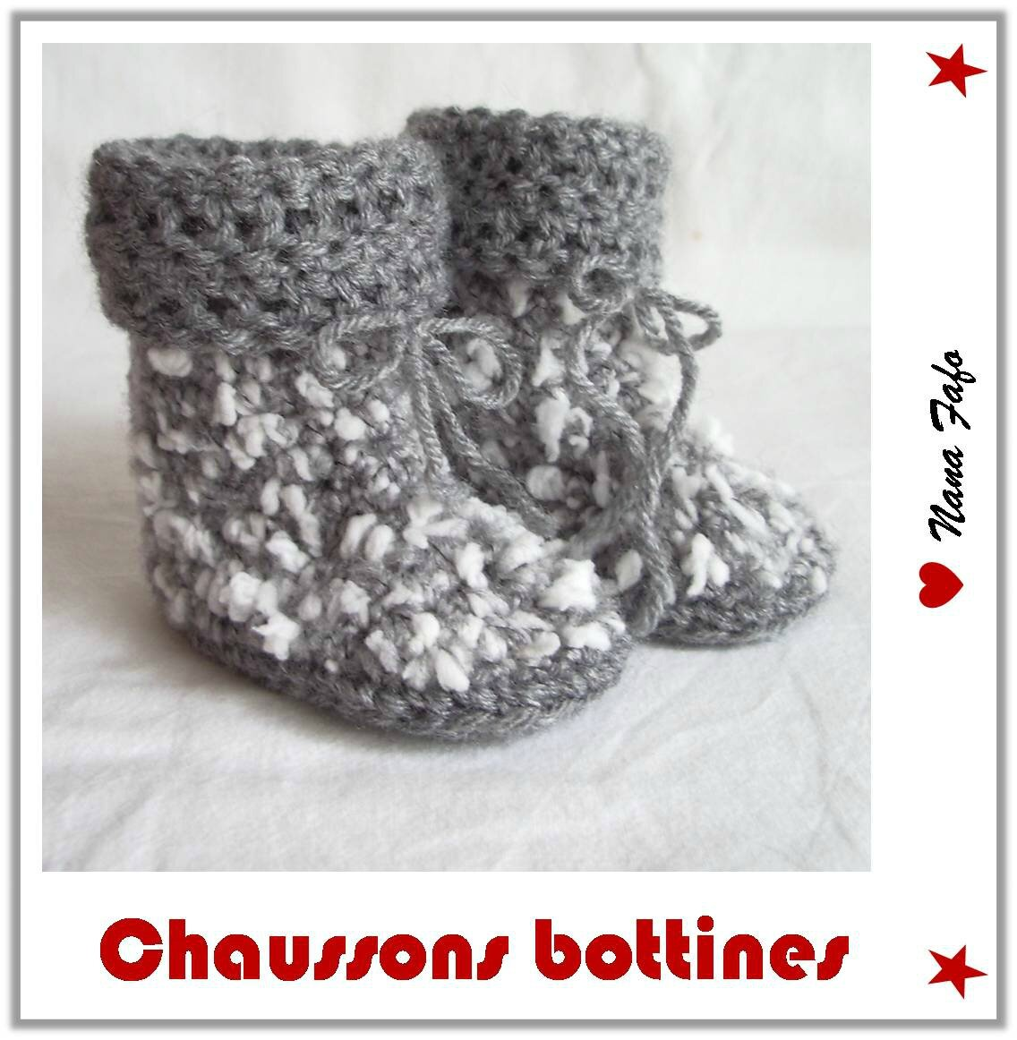 chaussons bébé crochet bottines tuto
