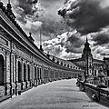 Plaza de espana en noir et blanc
