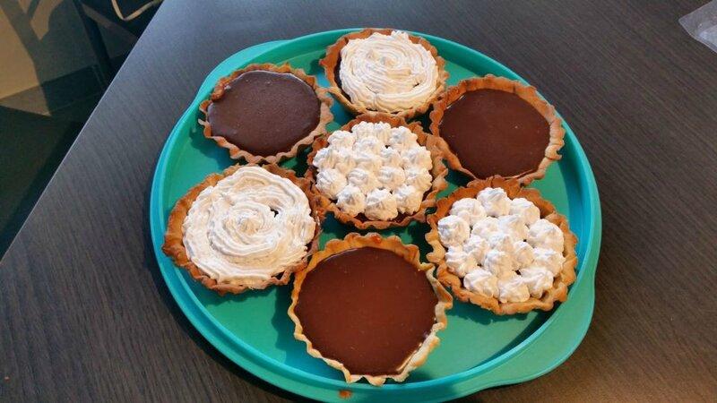 tartelette chocolat caramel et tartelette chocolat chantilly coco 4