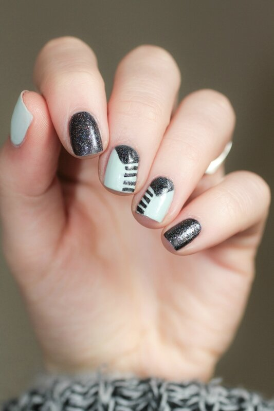 nail art fiver butter london glam polish the old black magic-4