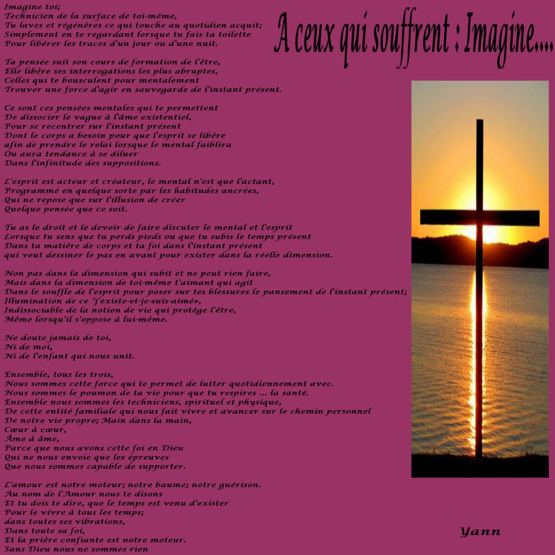 A ceux qui souffrent, Imagine