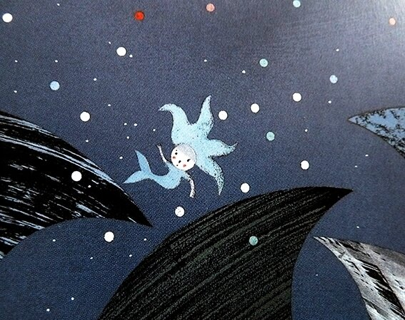Mon amie la sirène - Nathalie Minne - sirène ballotée par la tempête