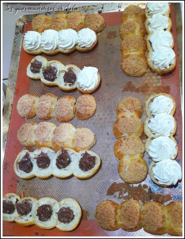 éclairs chantilly montage