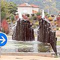 Roches volcanique, source d'eau pure à Aubenas (Ardèche)