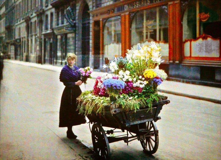 marchande fleur paris