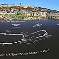 Les fortifications de chinon dans le temps, les trois châteaux.