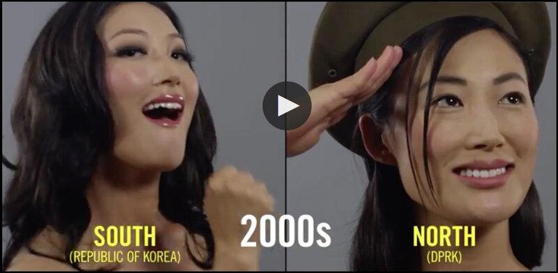 évolution femmes corée du nord et corée du sud