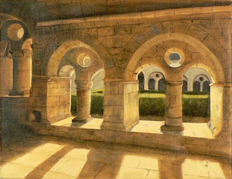 Abbaye du Thoronet - Huile sur toile - 5F 35x27