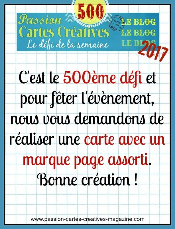 500 ème carte et marque page assorti 07