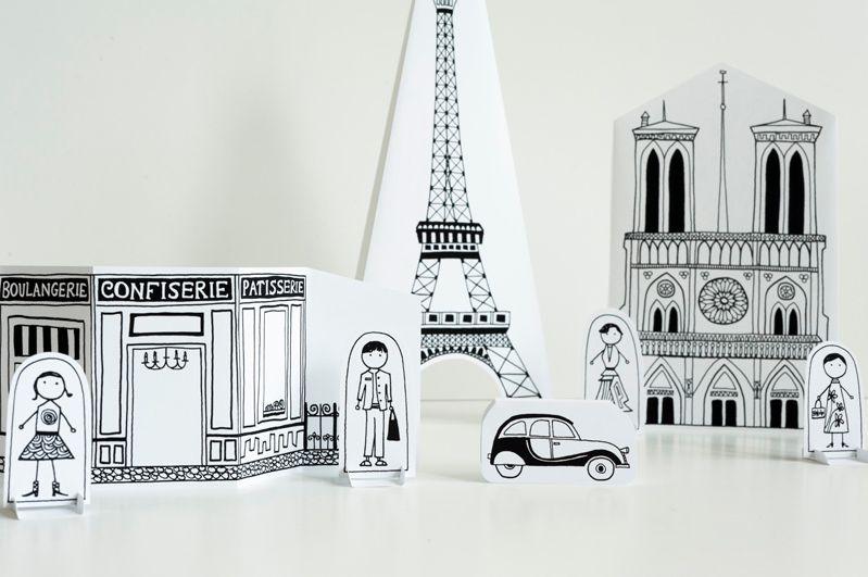 Modèles de villes en papier