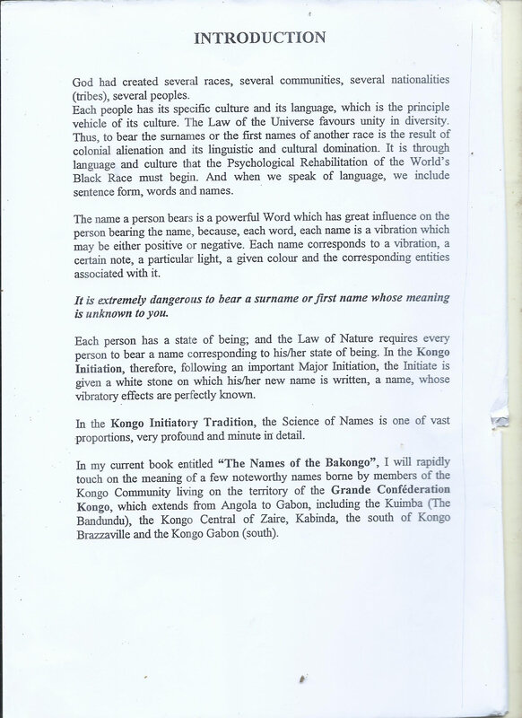 NAMES OF BAKONGO 4