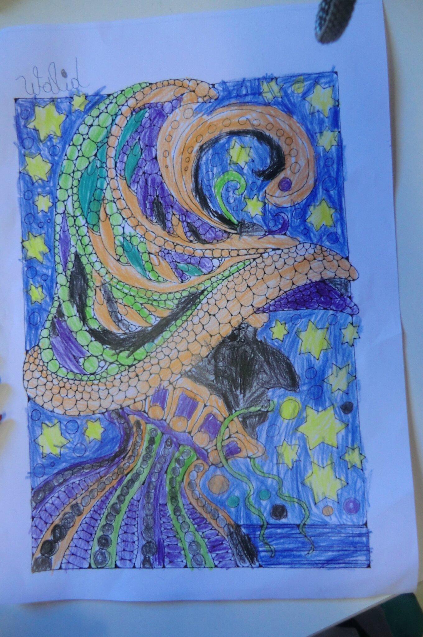Coloriage Mosaique Dans La Classe De Florence