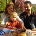 Arthur gâteau de ses 2 ans