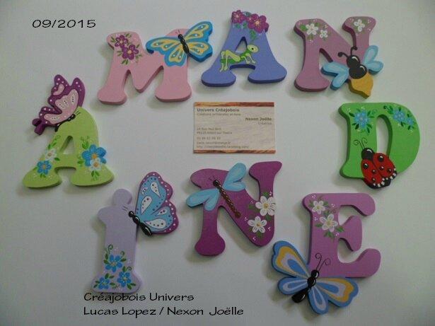 Lettres AMANDINE
