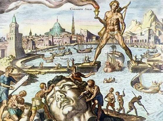 Colosse de Rhodes gravure