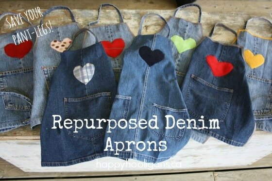 Demin Apron Recycle Jeans