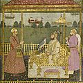 Emperor farrukhsiyar enthroned, india, mughal, circa 1715, and lucknow, third quarter 18th century