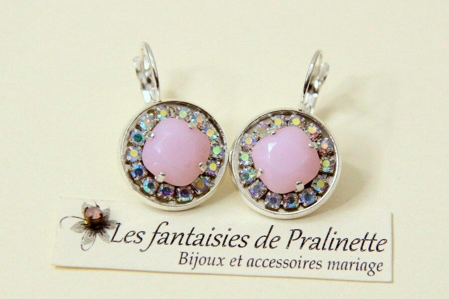 bijoux-mariage-soiree-temoin-cortege-boucles-d-oreilles-Aline-strass-et-cristal-rose-alabaster-argenté