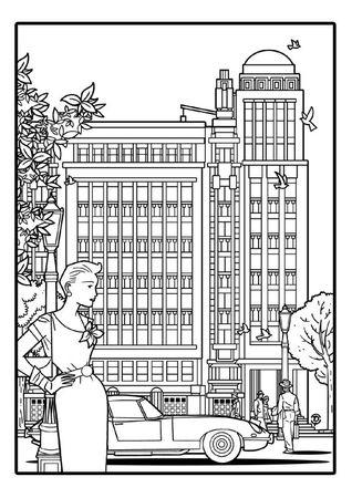 Delius dessinateur dessin au trait Antoine COURTENS Palais folle chanson BRUXELLES