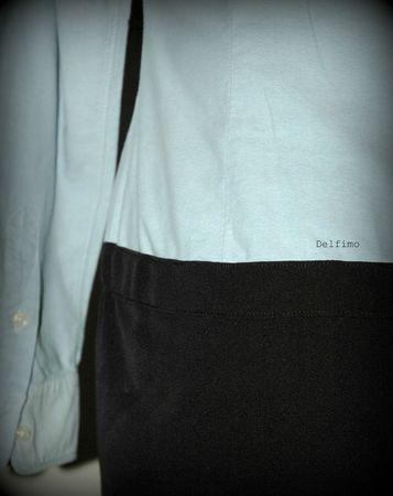 Transformation chemise en robe détail dos