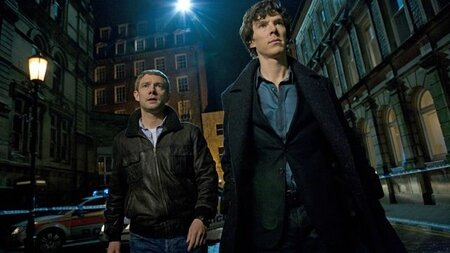 Martin-Freeman-and-Benedict-Cumberbatch-in-Sherlock-TV-Series