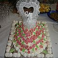 gâteau mariage (génoise aux poires et à la crème)