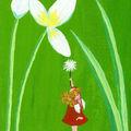 Mini fee à la fleur