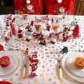 TABLE DE NOEL ROUGE /BLANC