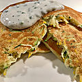 Blinis de courgette sauce fromage blanc