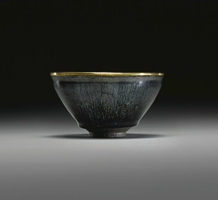 A magnificent and extremely rare 'Jian' 'nogime temmoku' tea bowl, Southern Song dynasty, 12th century